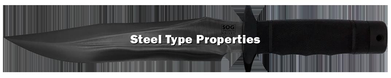 Steel type properties